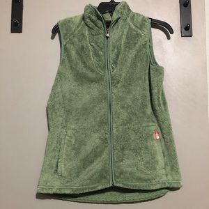 The North Face Fuzzy Green Vest